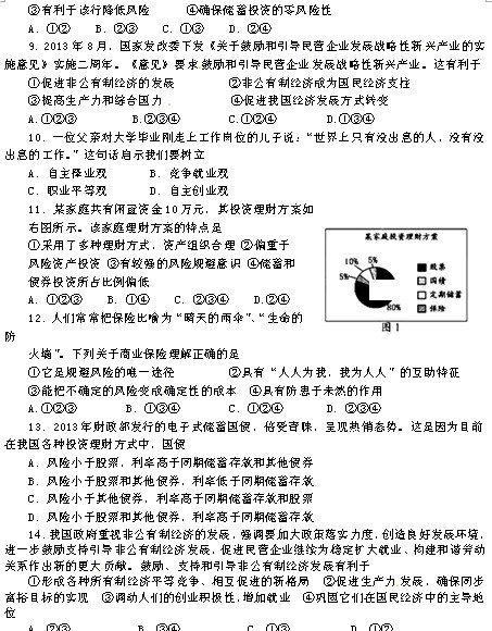 2013高二政治暑假作业及答案(二)